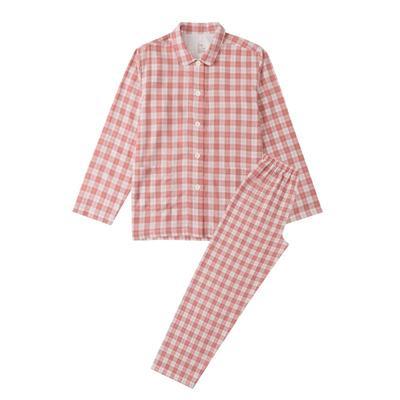 2021新款-炫彩格-长袖长裤 M码 粉红条纹