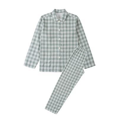 2021新款-炫彩格-长袖长裤 L码 绿色条纹