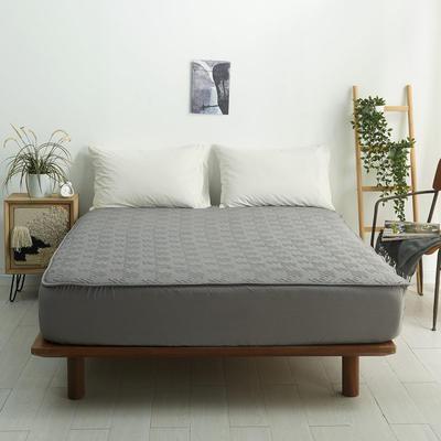 2021新款-夹棉床笠-6色 1.2*2.0+32 金属灰