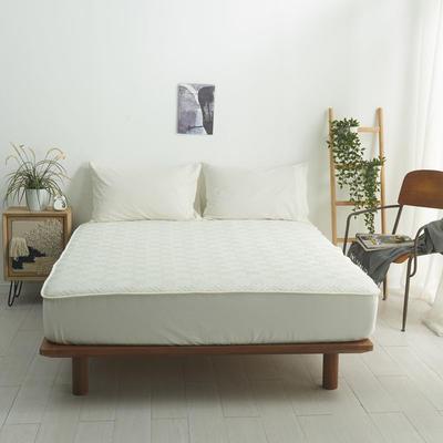 2021新款-夹棉床笠-6色 1.2*2.0+32 米色