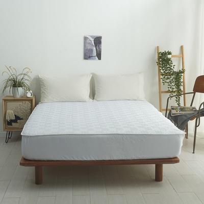 2021新款-夹棉床笠-6色 1.2*2.0+32 素白
