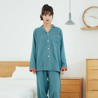2021花妍系列家居服模特图 L码 花妍-蓝