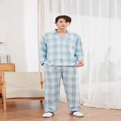 2021新款100%全棉家居服 M码 女款-木槿线格