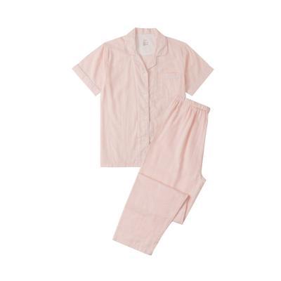 2021新款无印短袖长裤 L码 粉纯色短袖(女)