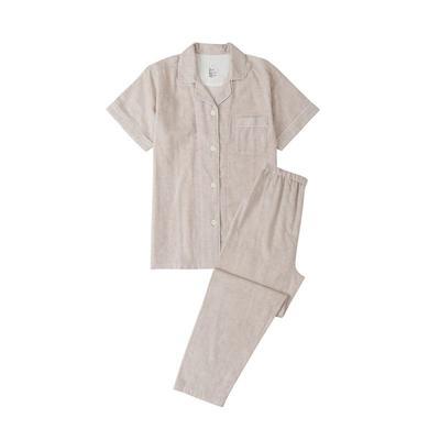 2021新款无印短袖长裤 L码 奶茶纯色短袖(女)