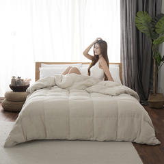 2018新品法国亚麻色织95%白鹅绒被系列 夏被200X230cm 全麻鹅绒被