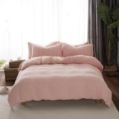 2018新品针织水洗全棉系列四件套 1.5m(5英尺)床 针织水洗粉色