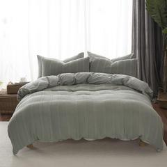 2018新品针织水洗全棉系列四件套 1.5m(5英尺)床 针织水洗绿色