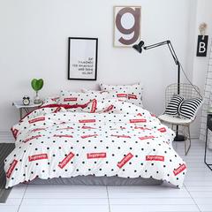 独家设计 简约北欧风  水晶绒数码印花四件套 1.2m(4英尺)床 supreme