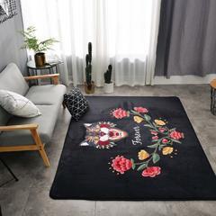 会生活 北欧风地毯爬行垫客厅地垫瑜珈垫卧室床边毯游戏垫野餐垫 155*200 小猫与花