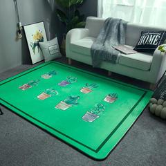 会生活 北欧风地毯爬行垫客厅地垫瑜珈垫卧室床边毯游戏垫野餐垫 155*200 阳台仙人掌