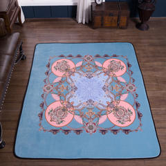 2018新款-欧式宫廷风地毯 155*200cm 城堡蓝