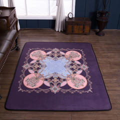 2018新款-欧式宫廷风地毯 155*200cm 城堡紫