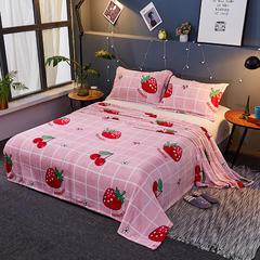 2018新款法莱绒毛毯  毛毯毯子 150X230cm 活力草莓
