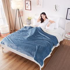 2018双层复合毯毛毯 功能毯 空调毯 120*200 湖蓝