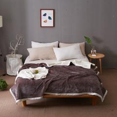 2018双层复合毯毛毯 功能毯 空调毯 200*230 灰色