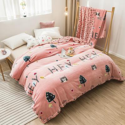 2020新款珊瑚绒法兰绒毯牛奶绒午睡盖毯床单空调毯毛毯AB版花型 120*200cm 森林童话