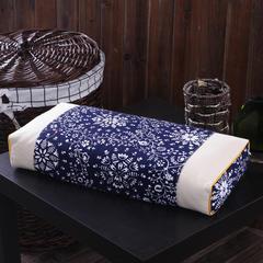 立体枕(50*22*8) 兰碎花