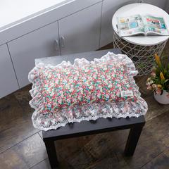 60支全棉碎花蕾丝边荞麦枕(30*55 ) 如花似玉