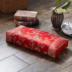 织锦缎古典荞麦枕(52*23*8) 金枝玉叶红