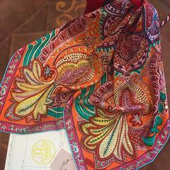 围巾丝巾系列-斜纹桑蚕丝18姆米硬绸丝巾 硬绸丝巾 12