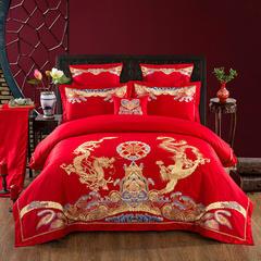 婚庆多件套系列(鸾凤和鸣) 标准(1.5-1.8m)床 八件套(床单+床盖)