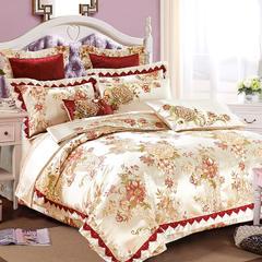 欧式婚庆多件套系列(花香满庭) 标准(1.5-1.8m)床 十件套