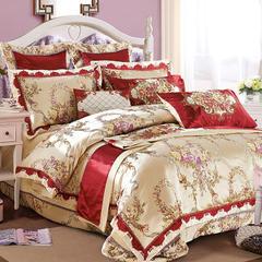 欧式婚庆多件套系列(米兰风情) 标准(1.5-1.8m)床 十件套