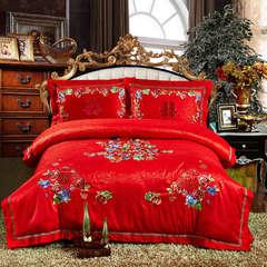 婚庆多件套臻品款(喜上加喜) 标准(1.5-1.8m)床 床单八件套