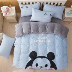 宝宝绒激光贴布绣四件套 小号床单款1.2m(4英尺)床 小米迪