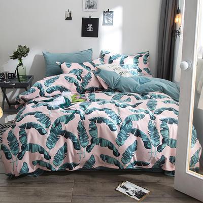 2018全棉13372+水晶绒新品四件套 1.2m(4英尺)床三件套 艾维