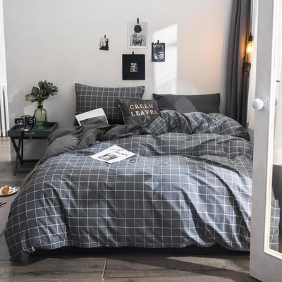 2018全棉13372+水晶绒新品四件套 1.2m(4英尺)床三件套 卡昂-绒