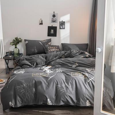 2018全棉13372+水晶绒新品四件套 1.2m(4英尺)床三件套 欧韵