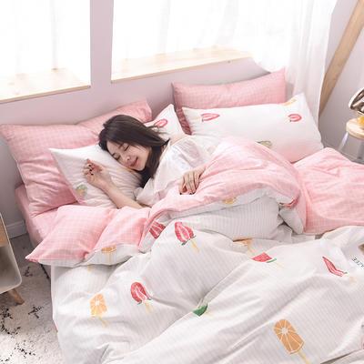 2019新品全棉13372印花四件套 1.2m(4英尺)床 清新款冰淇淋