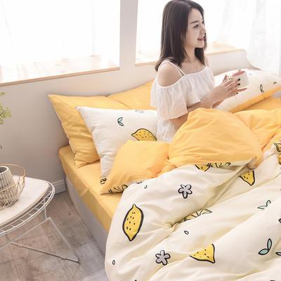 2019新品全棉13372印花四件套 1.2m(4英尺)床 清新款柠香