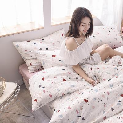 2019新品全棉13372印花四件套 1.2m(4英尺)床 清新款夏末