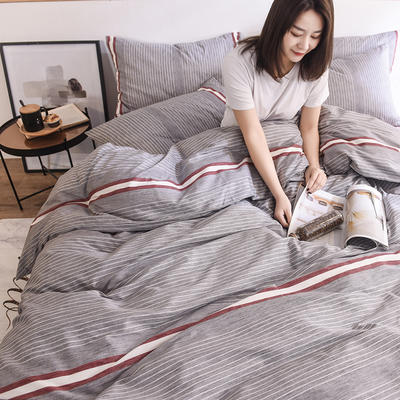 2019新品全棉13372印花四件套 1.2m(4英尺)床 时尚款初见