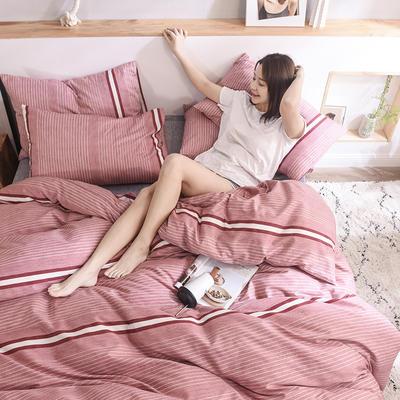 2019新品全棉13372印花四件套 1.2m(4英尺)床 时尚款依然