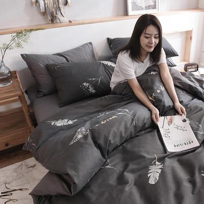 2019新品全棉13372印花四件套 1.2m(4英尺)床 时尚款约定