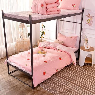 2019新款-学生季新品活性印花套件 1.2m(4英尺)床(床单款三件套) 02莓妮