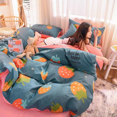 2019 13372棉绒款四件套 1.2m床单款三件套 草莓