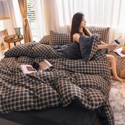 2019 13372棉绒款四件套 1.2m床单款三件套 墨菲