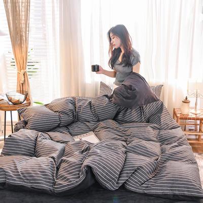 2019 13372棉绒款四件套 1.2m床单款三件套 暮涩