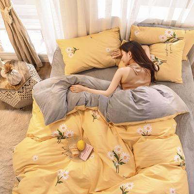 2019 13372棉绒款四件套 1.2m床单款三件套 小雏菊