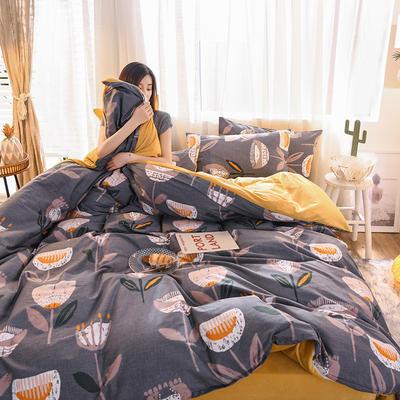 2019 13372棉绒款四件套 1.2m床单款三件套 余味