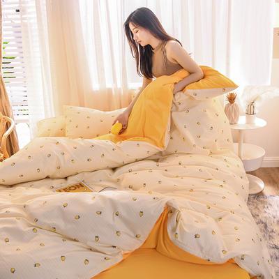 2019 13372棉绒款四件套 1.2m床单款三件套 果色