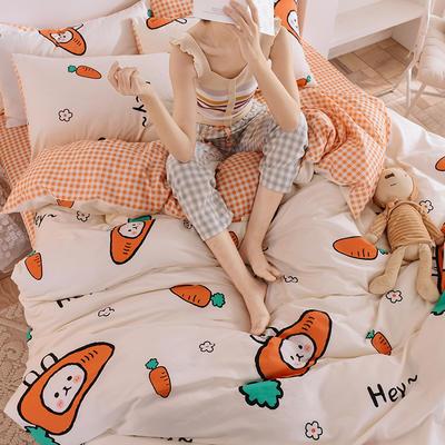 2020新品-13372活性印花四件套 1.2m床单款三件套 萝卜兔