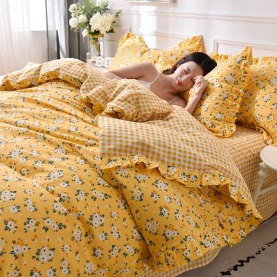2020新品-13372裙边印花四件套 1.2m床单款三件套 春暖花开