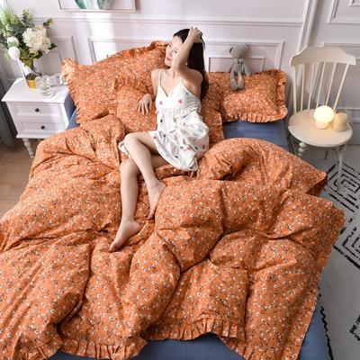 2020新品-13372裙边印花四件套 1.2m床单款三件套 小雏菊