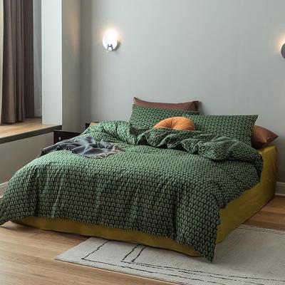 2021新款13372轻奢风全棉印花四件套 1.8m床单款四件套 挪威